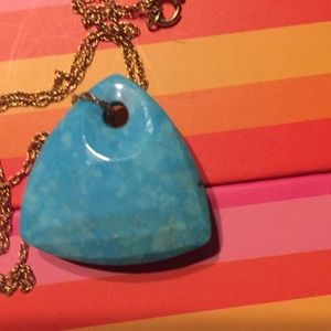 Jewelry - Checkerboard Cut Turquoise Pendant